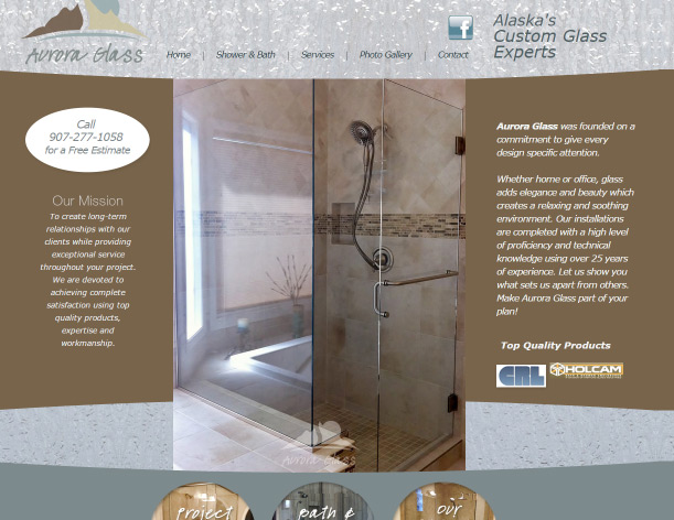 Web Design Aurora Glass