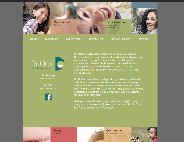 Duclos Orthodontics - Web design