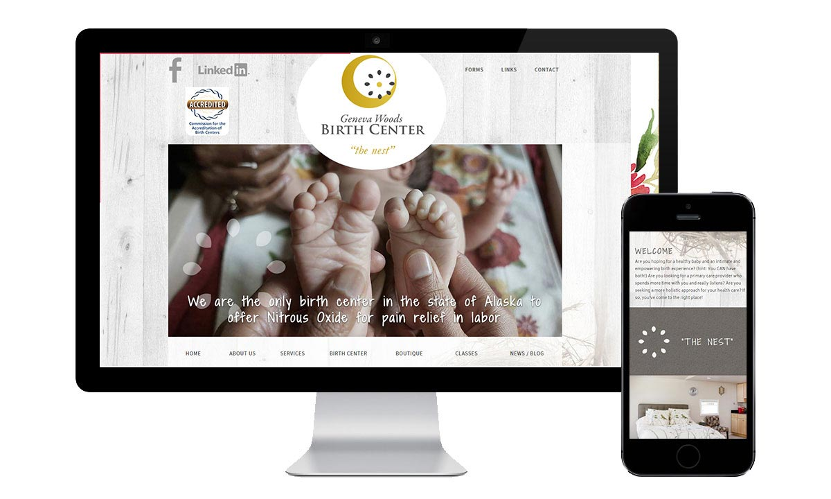 web design birth center anchorage